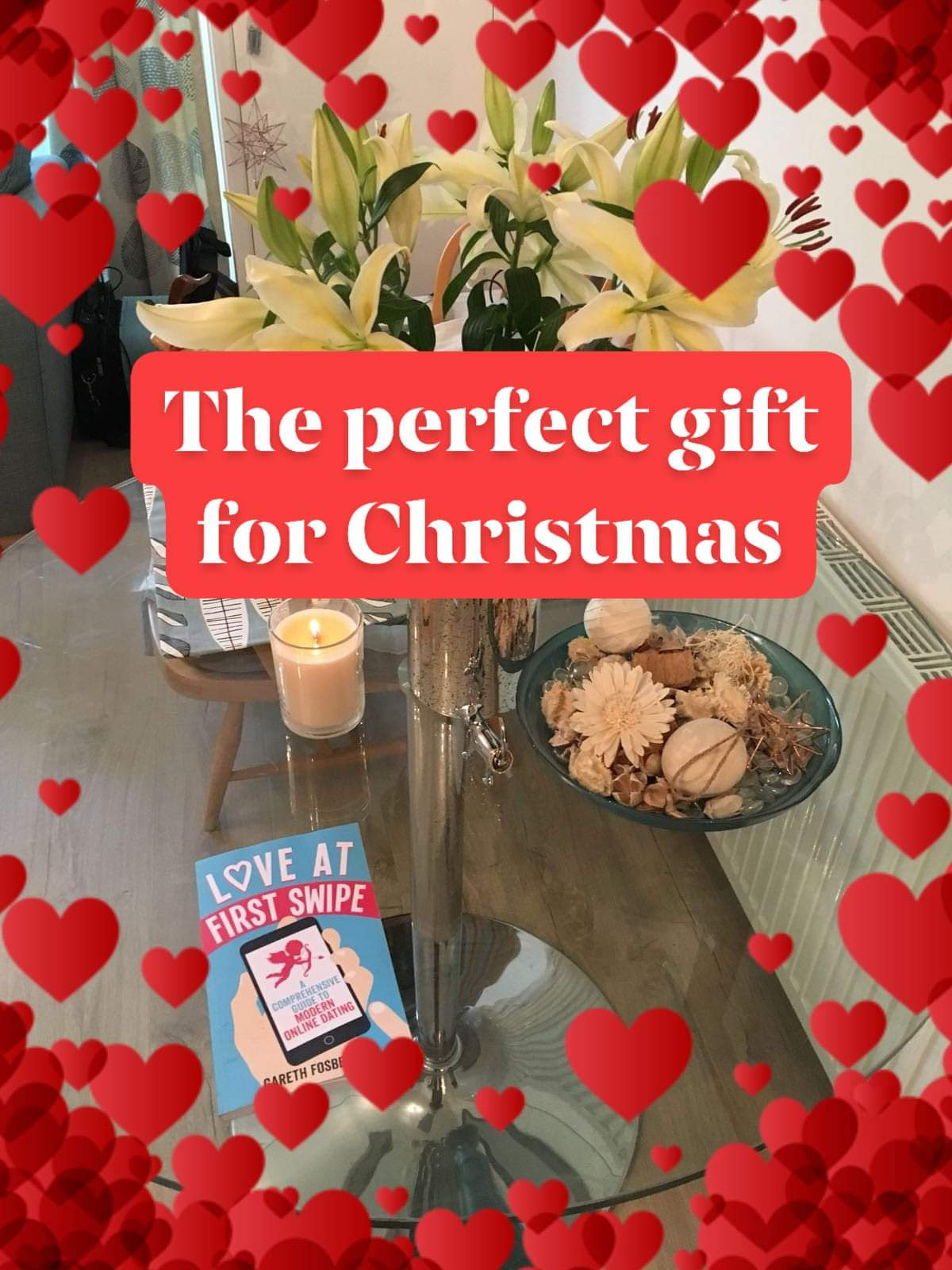 Sally's Cafe and Bookstore | New book on the shelves for Christmas | Love at First Swipe by Gareth Fosberry #OnlineDating #datingadvice #love #loveatfirstswipe